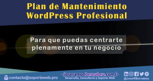 Mantenimiento WordPress Profesional